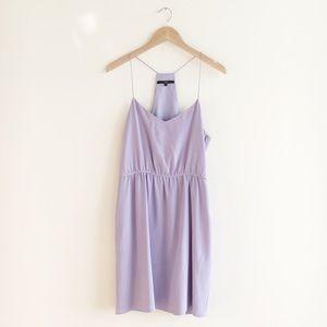 Tibi Lavender Violet Silk Mini Dress